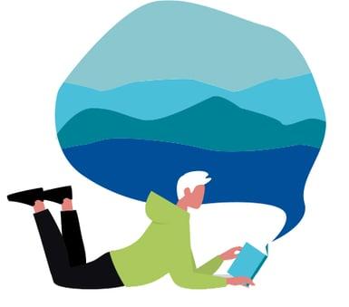 Man liest Buch-1