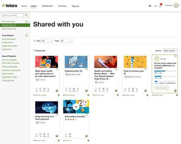 Learning Experience Platform - Totara Engage
