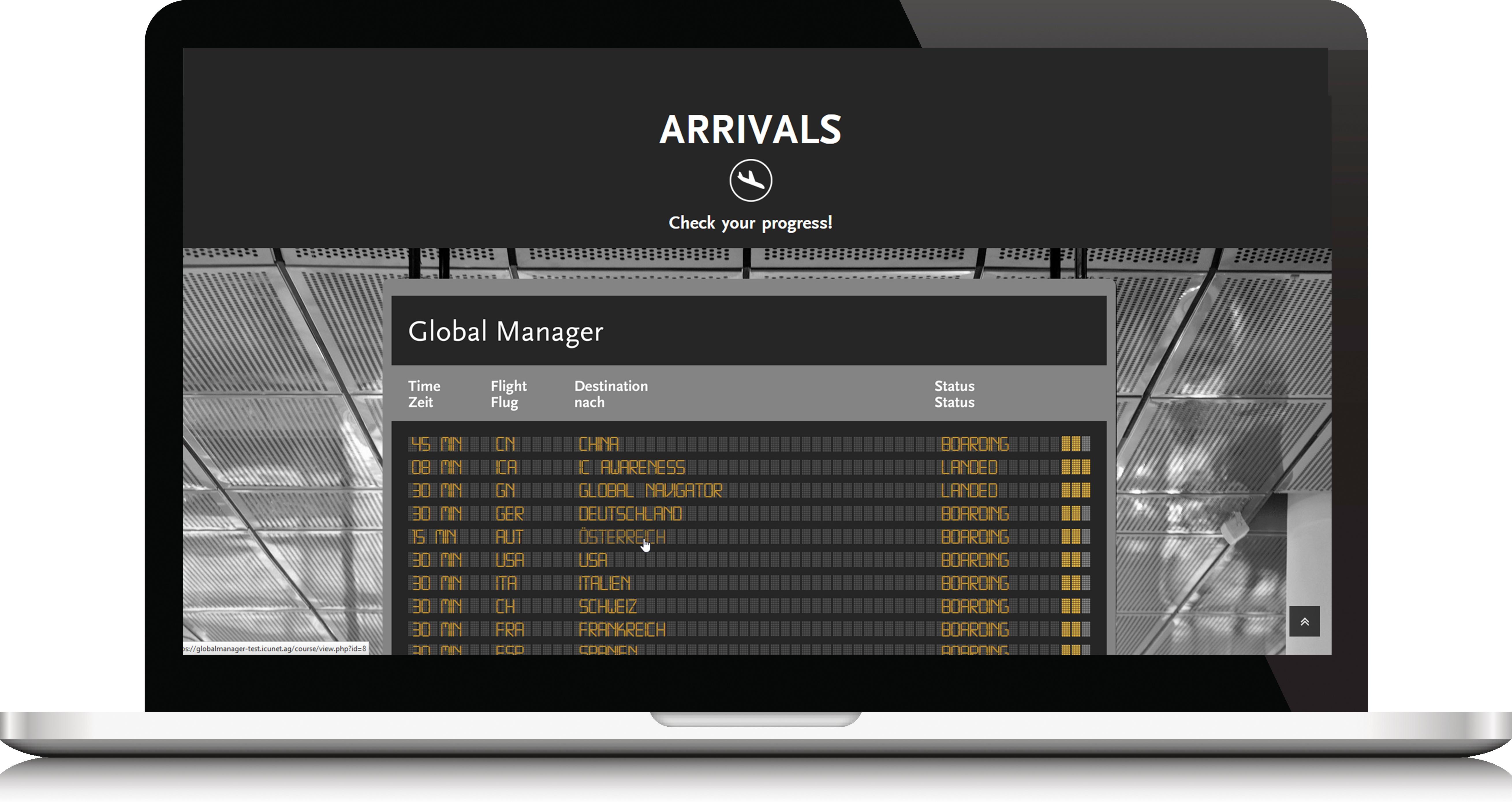 LMS Global Manager Beispiel Totara LMS